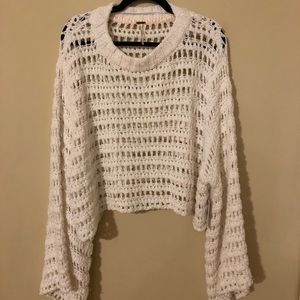 NWT Free People White Knit Sweater